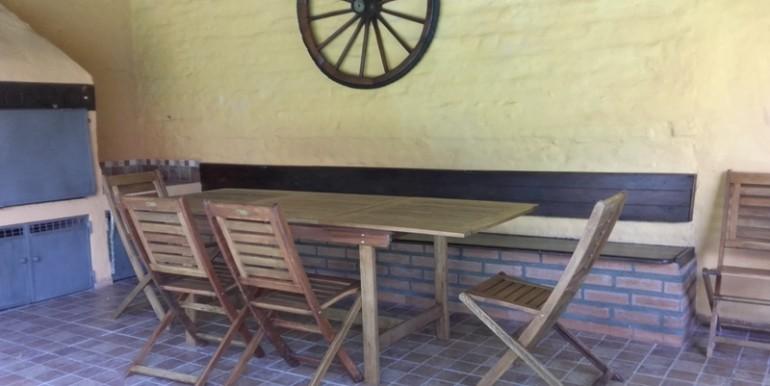 mesa y banco quincho